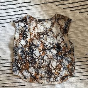 Nordstrom Matty M 100% Silk abstract blouse